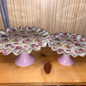 Lot # 839 Pretty Pair of Cake and Pastry Stands from Style