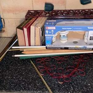 Lot # 842 Books, Curtain Rods & More
