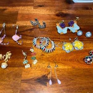 Lot # 856 (10) Pairs of Earrings