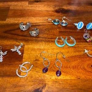 Lot # 858 (9) Pairs of Earrings