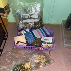 Lot # 871 Jewelry Craft Beads & String