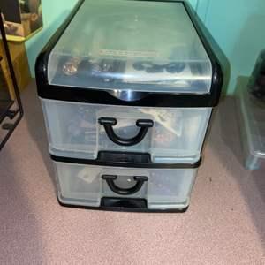 Lot # 872 Jewelry Storage Box w/ Materials