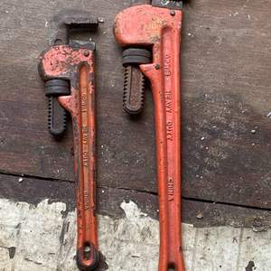 """Lot # 900 Ohio Forge 18"""" & 14"""" Wrench"""
