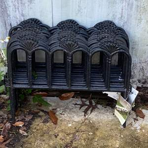"""Lot # 915 14 Pieces of PC Cast Iron Fence Sections 14"""" Tall - Nice!"""