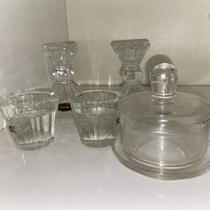 Lot # 947 Crystal Candle Holders & More