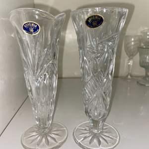 Lot # 948 Bohemia Crystal Vases