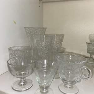 Lot # 949 Glass & Crystal Glasses