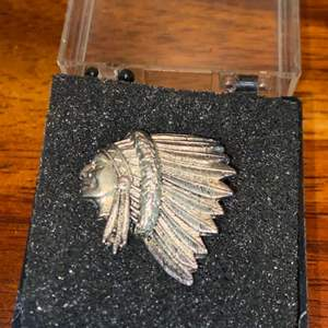 Lot # 957 Vintage Native American Indian 722 Silver Pin