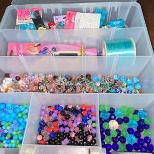 Lot # 973 Bin w/ Jewelry Crafting Materials