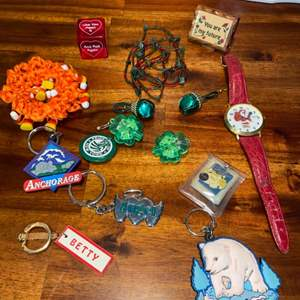 Lot # 1022 Key Chains, Pins & More