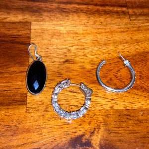Lot # 1024 (3) Mismatched Sterling Silver Earrings