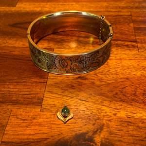 Lot # 1030 12K 1/20 GF Gold Charm TW 0.8 & 12K 1/20 GF Gold Bracelet TW 28.8g
