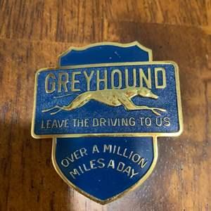 Lot # 1033 Vintage Greyhound Badge