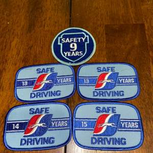 Lot # 1034 Greyhound Safe Driving Patches