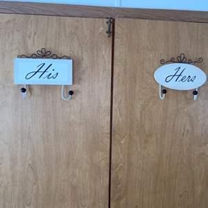 Lot # 1036 His & Hers Door Hooks