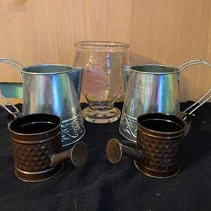Lot # 1053 Decorative Flower Watering Cans and Pitcher