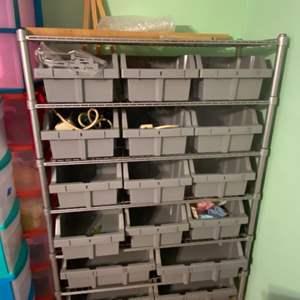 Lot # 1068 Huge Storage Shelf w/ Drawer Pulls