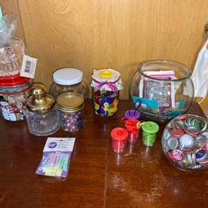 Lot # 1074 Jars of Buttons