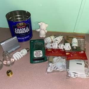 Lot # 1083 Energy Saving Light Bulbs, Decorative Light Bulb Bottles & More