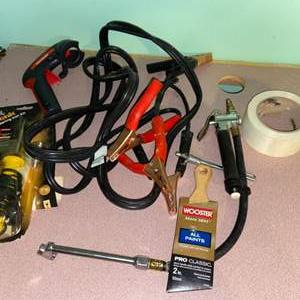 Lot # 1089 Jumper Cables, Paint Brush & More