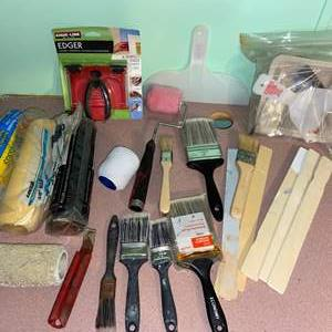 Lot # 1090 Paint Brushes, Rollers & More