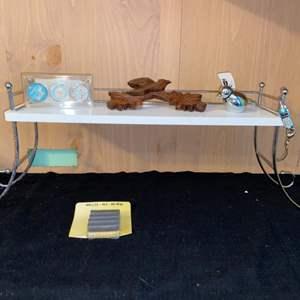 Lot # 1104 Table Shelf w/ Knickknacks