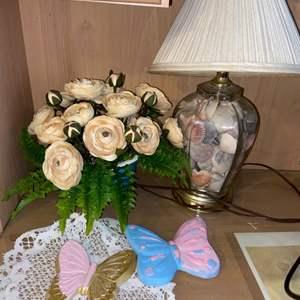 Lot # 1111 Lamp, Floral Arrangement & More