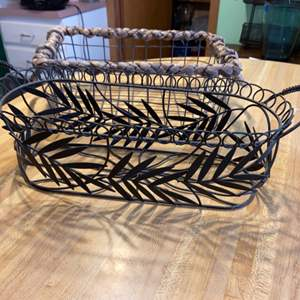 Lot # 1120 (2) Decorative Baskets