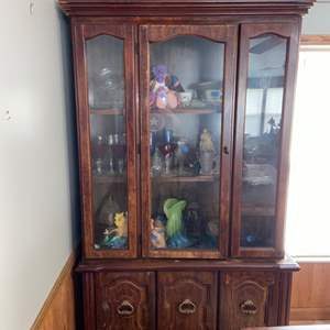 Lot # 1146 China Cabinet - Has Spots of Wear
