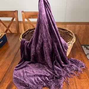 Lot # 1151 Basket w/ Cozy Blanket