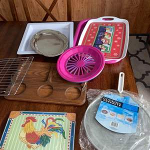 Lot # 1155 Serving Trays & More