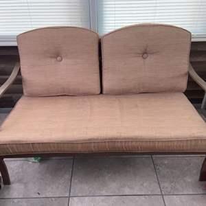 Lot # 1160 Patio Loveseat w/ Cushions