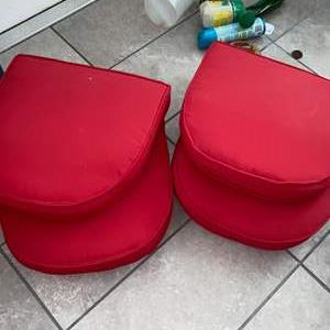 Lot # 1161 (4) Red Chair Cushions