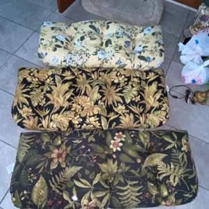 Lot # 1162 (3) Patio Chair Cushions