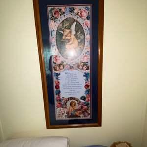 Lot # 1183 Framed Angel Artwork