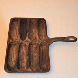 Lot # 3 Birmingham Stove & Range Cast Iron Handy Dan Corn Stick Pan 74H