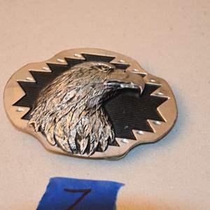 Lot # 7 Siskiyou Bald Eagle Head Belt Buckle 1996 Model AG-44