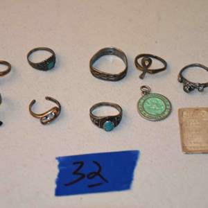 Lot # 32 STERLING SILVER jewelry & more lot 24.7g