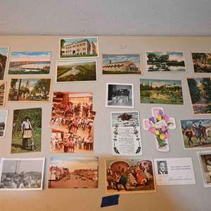 Lot # 36 Old postcards, greeting cards, misc..