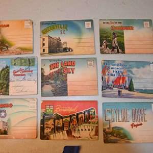 Lot # 39 Vintage travel flip-out photobook postcards