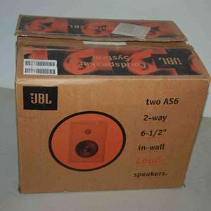 Lot # 50 JBL AS6 pair of speakers *NEW*