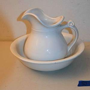 Lot # 57 MCCOY white pitcher & bowl #7515