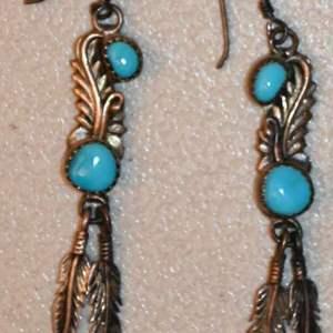 Lot # 71 Navajo sterling & turquoise earrings