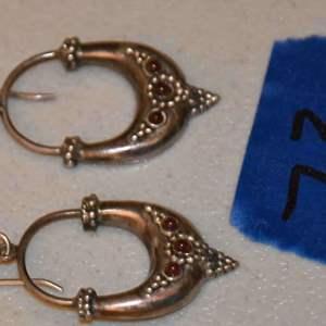 Lot # 73 Sterling silver Balinese ruby earrings 6.0g