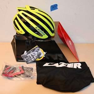 Lot # 78 LAZER Size Medium Flash Yellow bike helmet *NEW*
