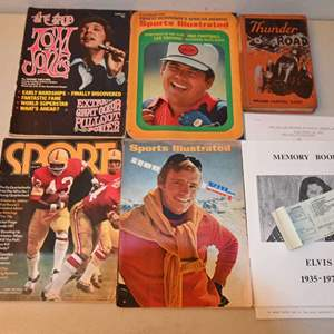 Lot # 84 Vintage sports and music magazines