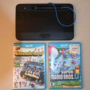 Lot # 86 NINTENDO Wii-U games & U-Draw controller
