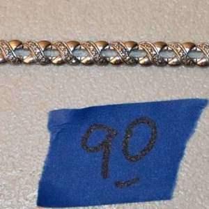 "Lot # 90 Sterling silver .925 7-3/4"" tennis bracelet 11.7g"