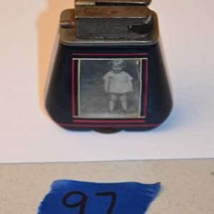 Lot # 97 Vintage bakelite? photo frame lighter