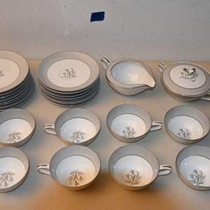 """Lot # 99 NORITAKE """"THEME"""" china set"""